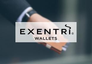 20% de réduction sur les portefeuilles et porte-cartes EXENTRI