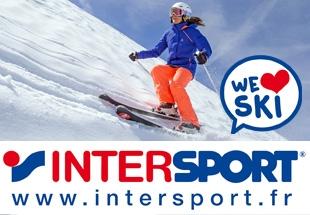 6% de remise supplémentaire pour votre location de ski en ligne chez Intersport soit jusqu'à -60% !