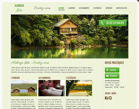 Template site web clé en main