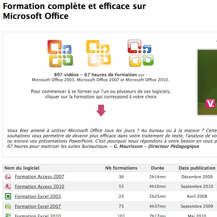 Formation complète et efficace sur Microsoft Office