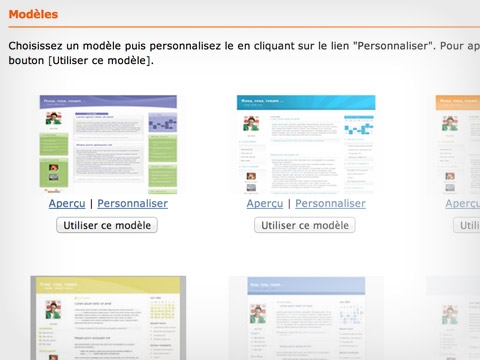 Blog Pro : modèles de mise en page